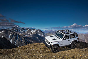 2018 Jeep Wrangler on the mountaintop