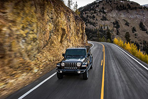2018 Jeep Wrangler on mountain road