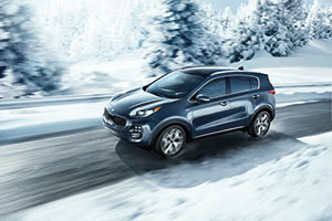 2018 Kia Sportage driving in the snow