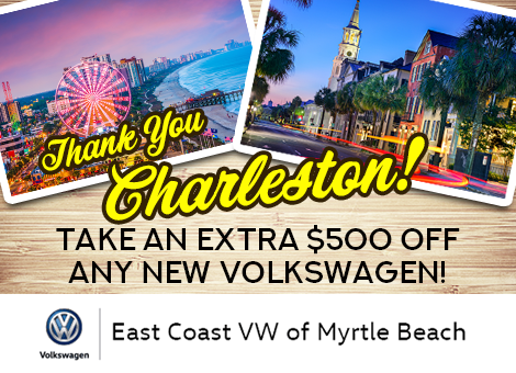 East Coast Volkswagen Dealership In Myrtle Beach Sc