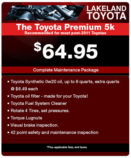 Concord Toyota Used Cars: Toyota Service Coupons & Parts Specials