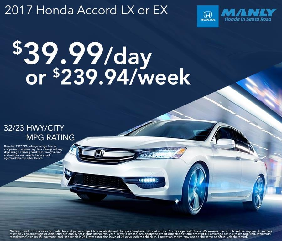 Rent A Car At Manly Honda