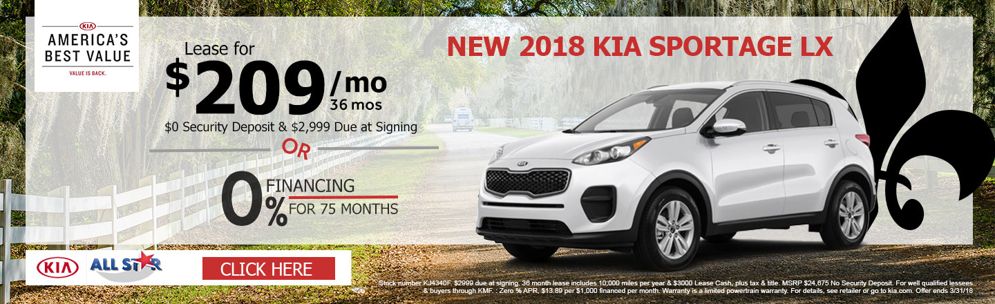 Captivating Well, A New 2018 Kia Sportage LX May Be The SUV For You! You Can Lease A  New 2018 Kia Sportage LX For $209 A Month, ...