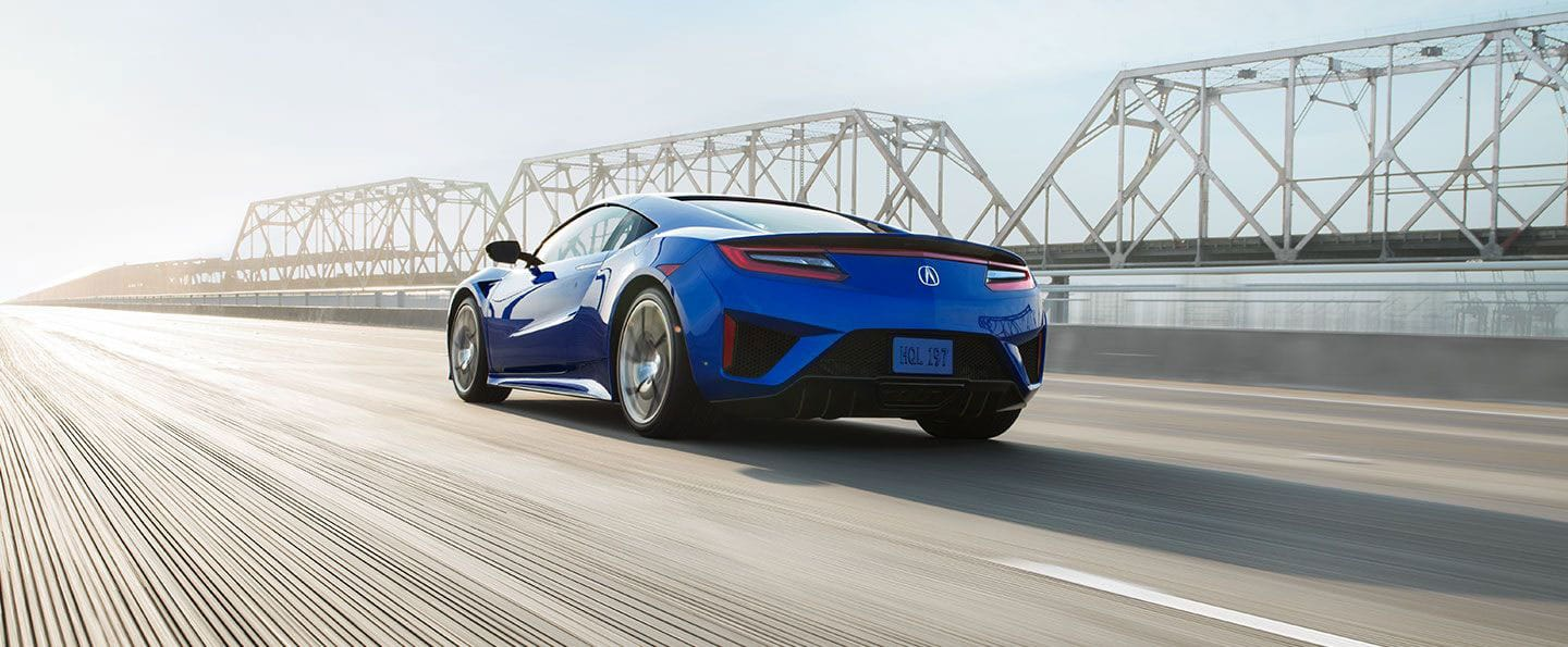 Rear view of 2018 Acura NSX