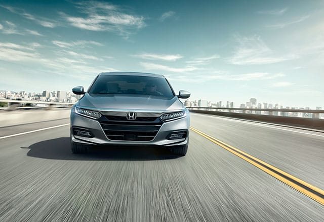 Front view of 2018 Honda Accord on the highway