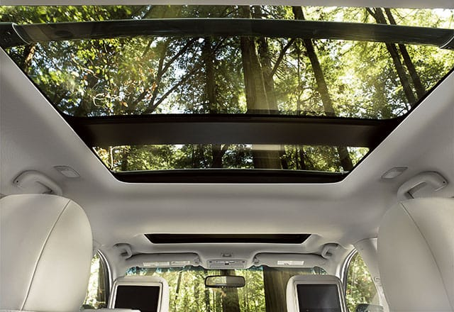 Interior 2017 Nissan Pathfinder with sunroof and entertainment system