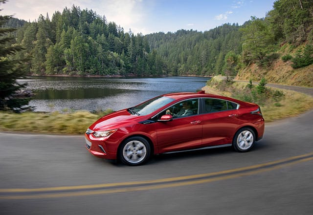 2018 Chevrolet Volt driving near river