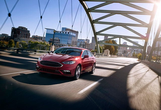 2018 Ford Fusion crossing bridge