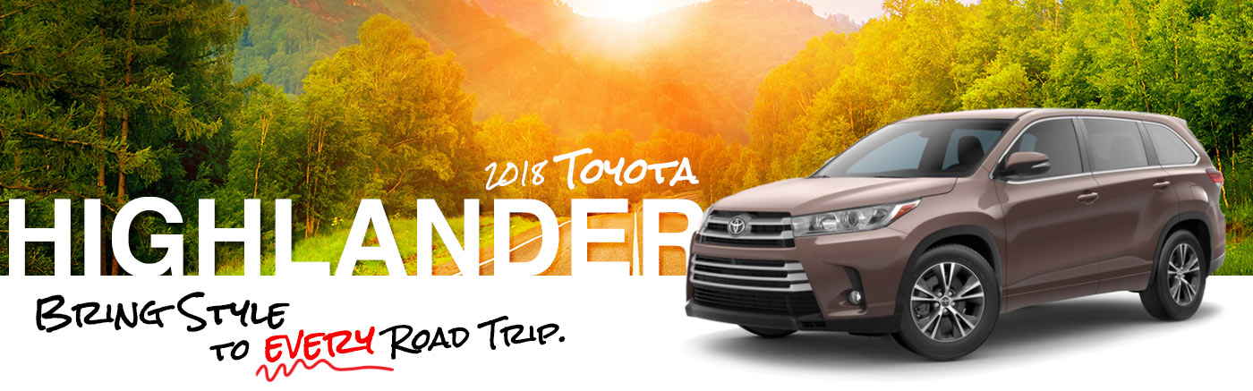 2018 Red Exterior Highlander On Road at Cumberland Toyota