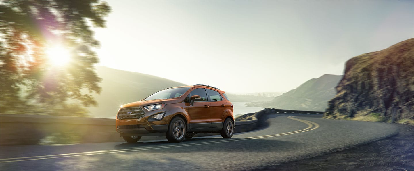 2018 Ford EcoSport on mountain road