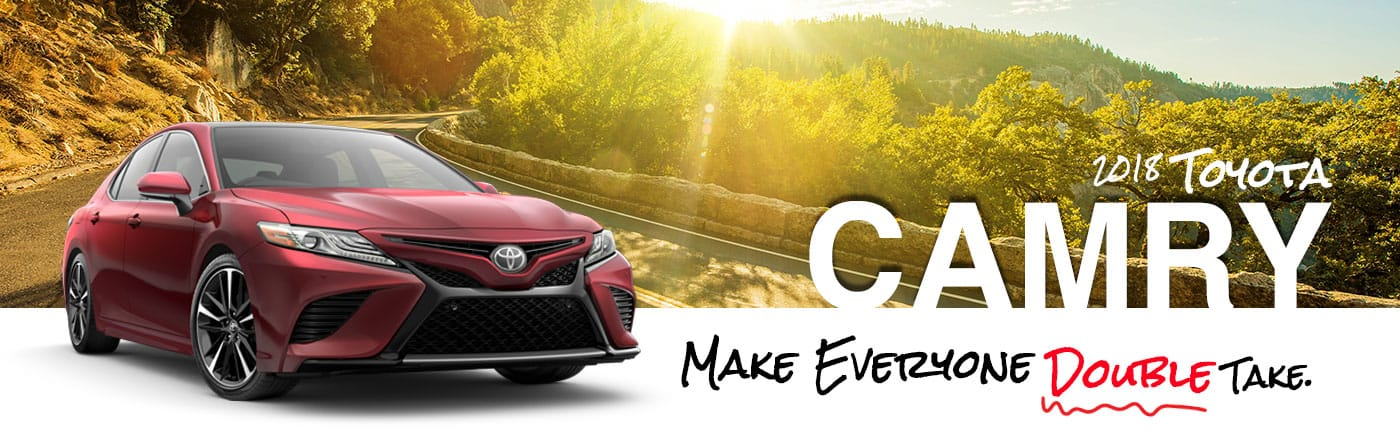 2018 Red Exterior Camry On Road at Parks Toyota of Deland