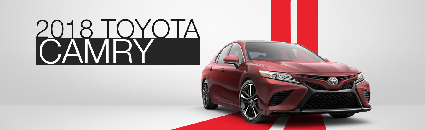 2018 Red Exterior Camry On Road at Herrin-Gear Toyota