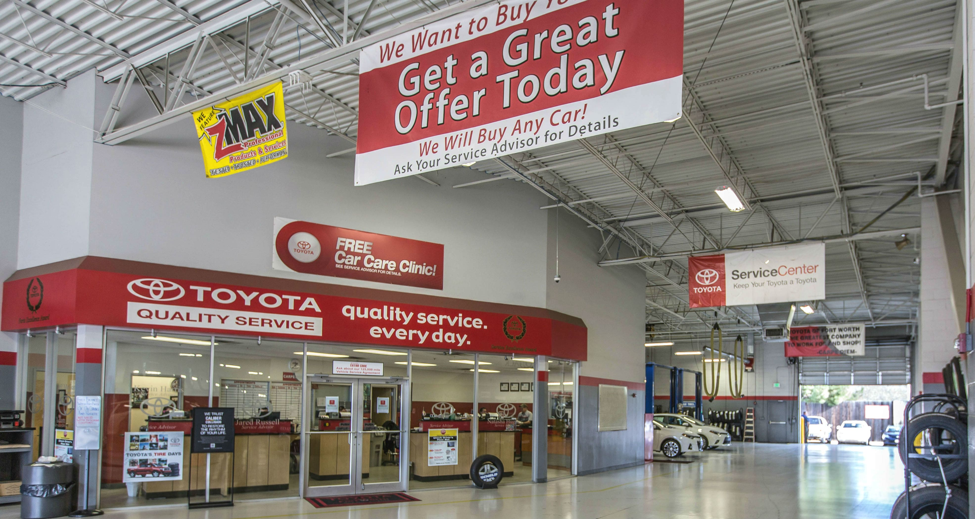 Fort Worth Toyota >> Auto Service Department Serving Weatherford Tx Toyota Of