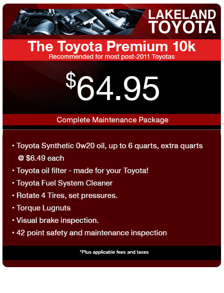 Toyota Service Coupons >> Toyota Service Coupons Parts Specials Lakeland Toyota