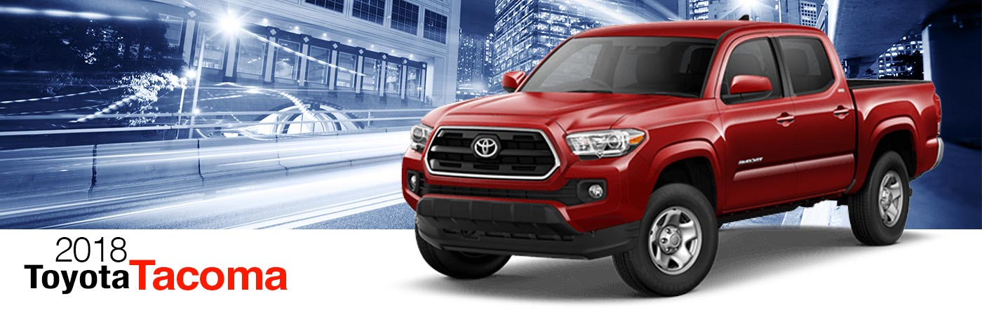 2018 red Exterior tacoma On Road at Fairfield Toyota