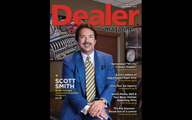 Scott Smith on the cover of Dealer Magazine