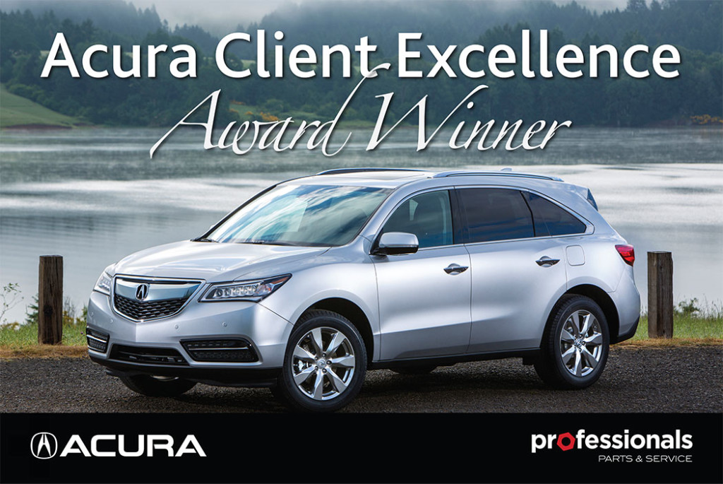 Acura Client Excellence Award Winner