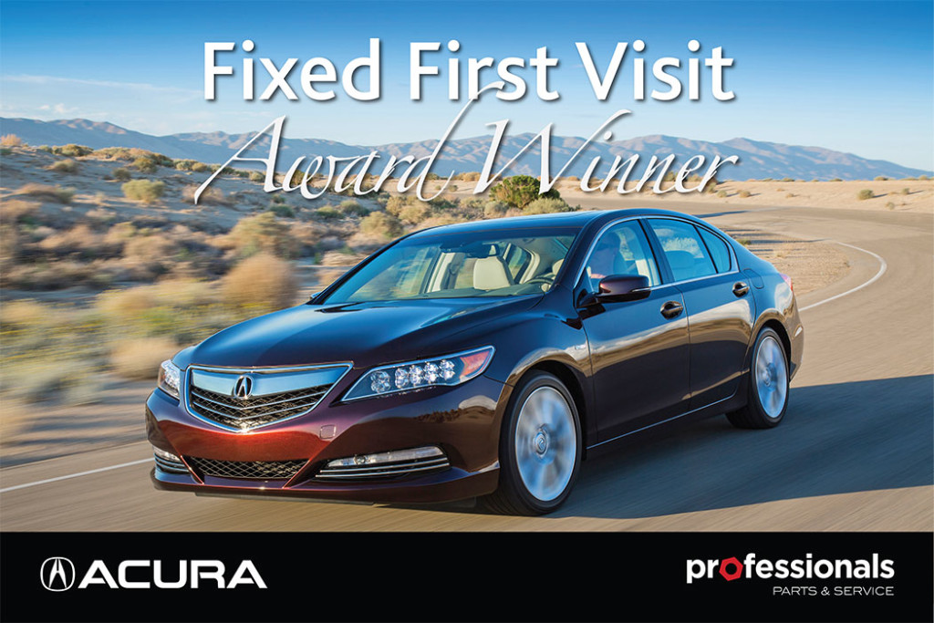 Acura Fixed First Visit Award Winner