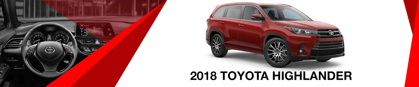2018 red Toyota highlander