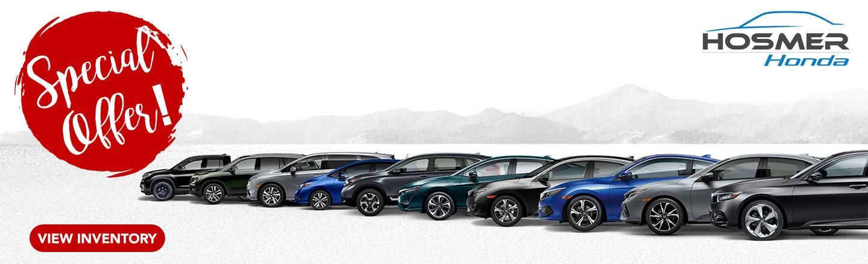 New Car Specials At Hosmer Honda