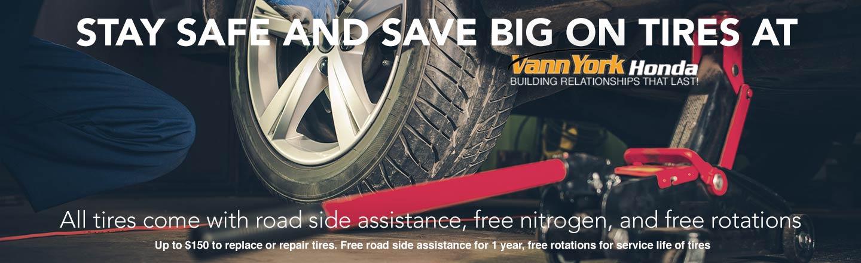 Used Tires Greensboro Nc >> Tire Store Serving Greensboro Nc Vann York Honda