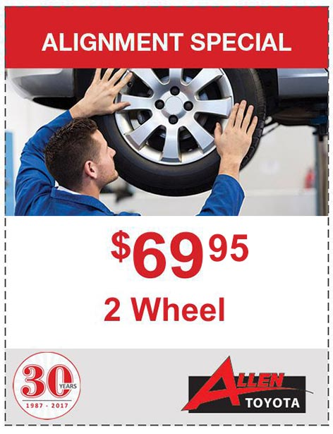 $69 2 Wheel Alignment Special