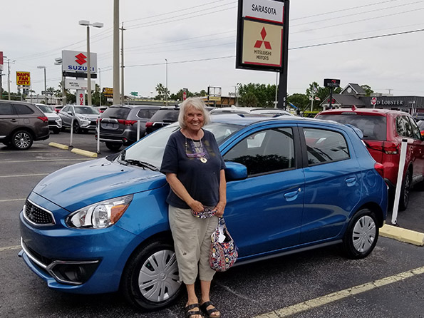 woman purchased a mitsubishi from sarasota mitsubishi