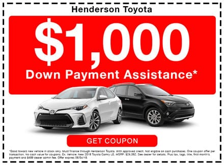 Henderson Toyota, down payment assistance