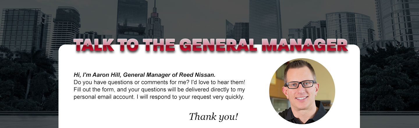 Talk to the General Manager Aaron Hill