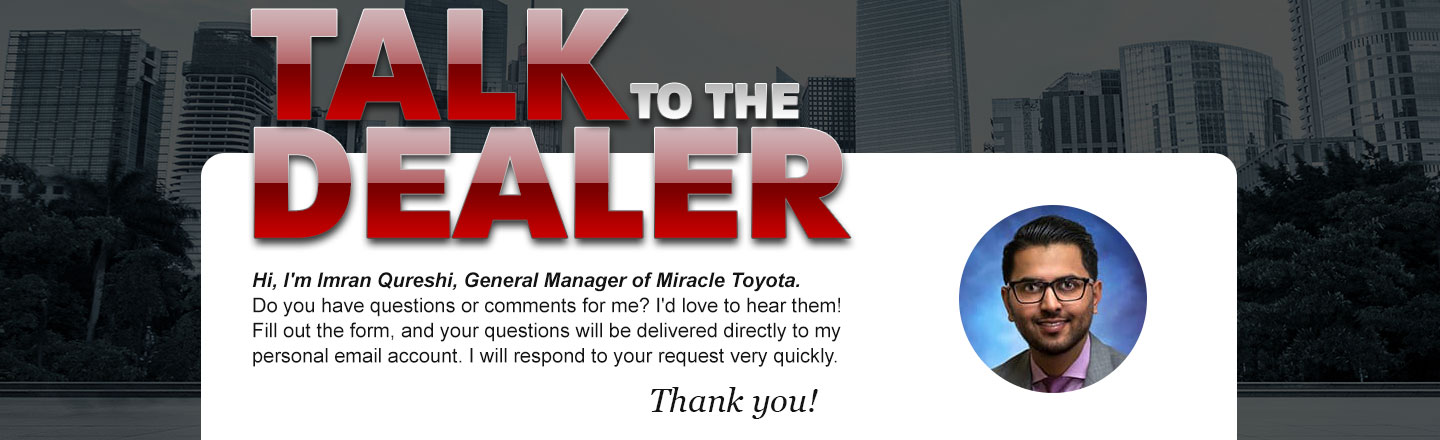 Talk to the general manager, imran qureshi