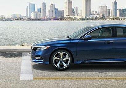 New Honda Accord blue street city