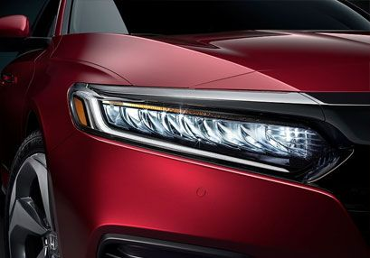 Red Accord Sedan LED headlights