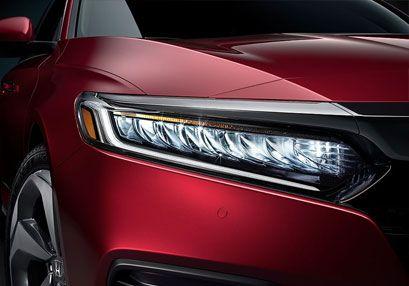 Red Accord Sedan LED headlights