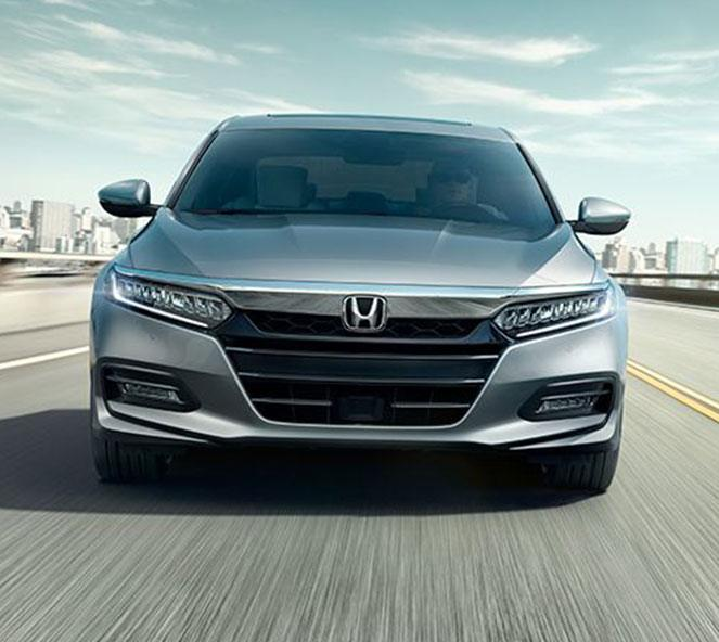 Front Of New Honda Accord Silver Metallic Color