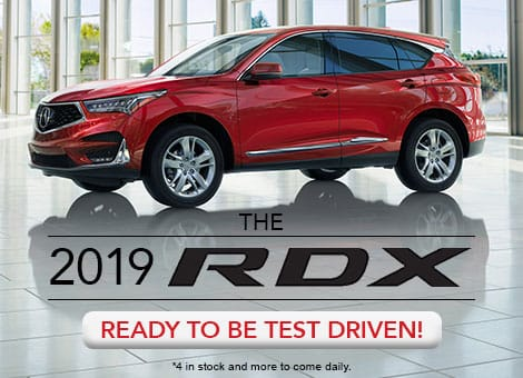 red 2019 acura rdx test drive new