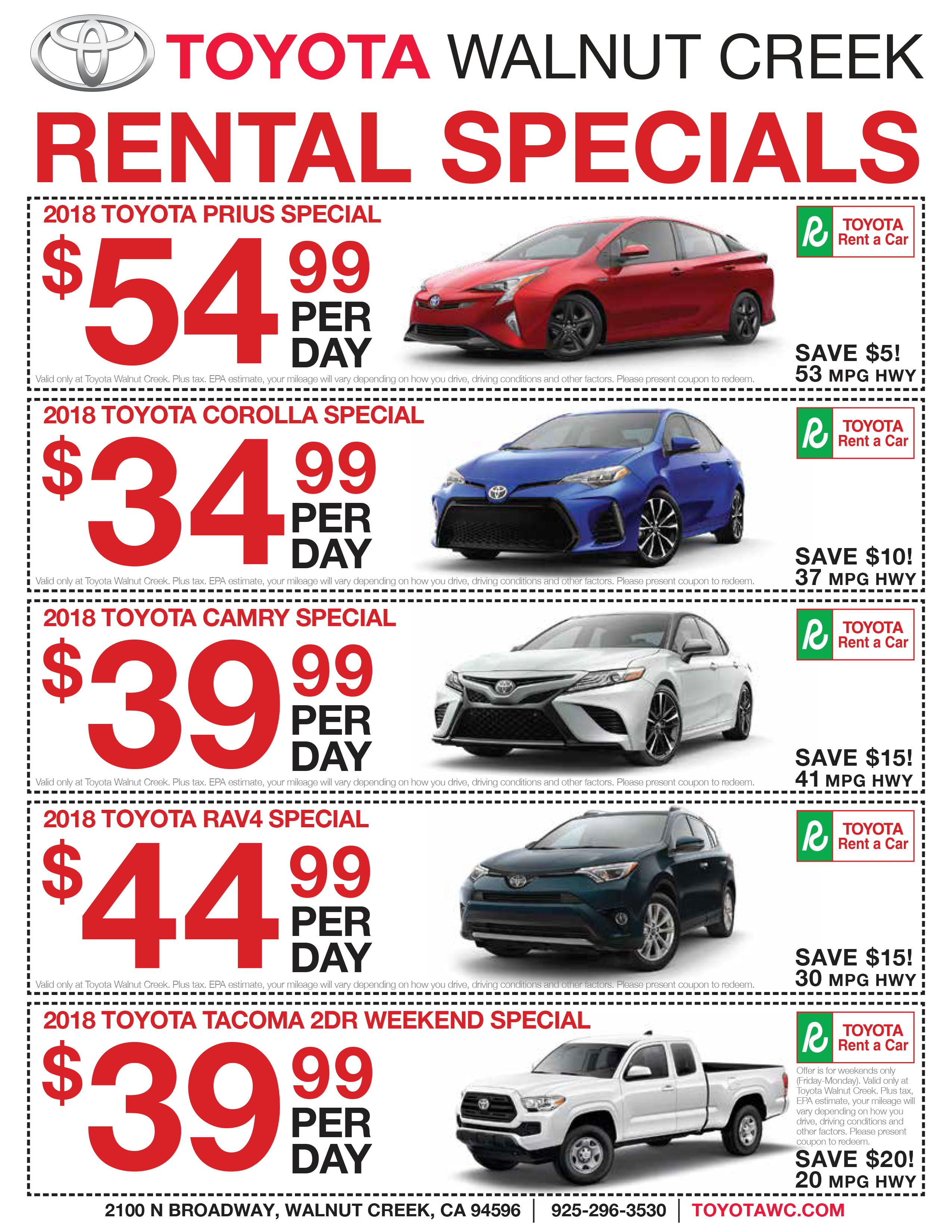 newspaper lease page incentives toyota offers gmc buick champion specials