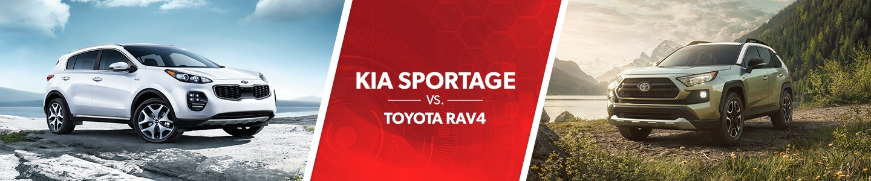 Kia Sportage vs. Toyota RAV4 comparison