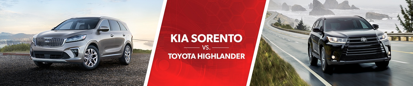 Kia Sorento vs. Toyota Highlander comparison