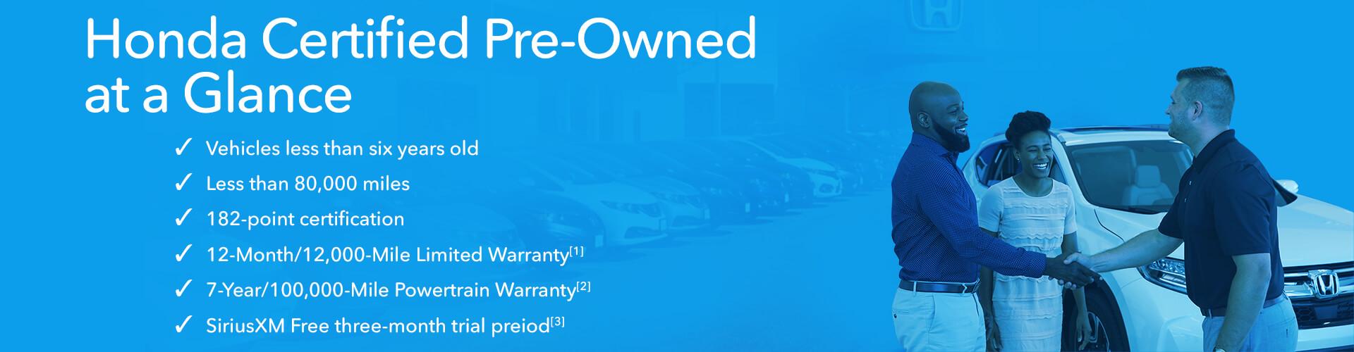 Honda Certified Pre Owned Warranty >> Honda Certified Pre Owned Coachella Valley Honda Dealers