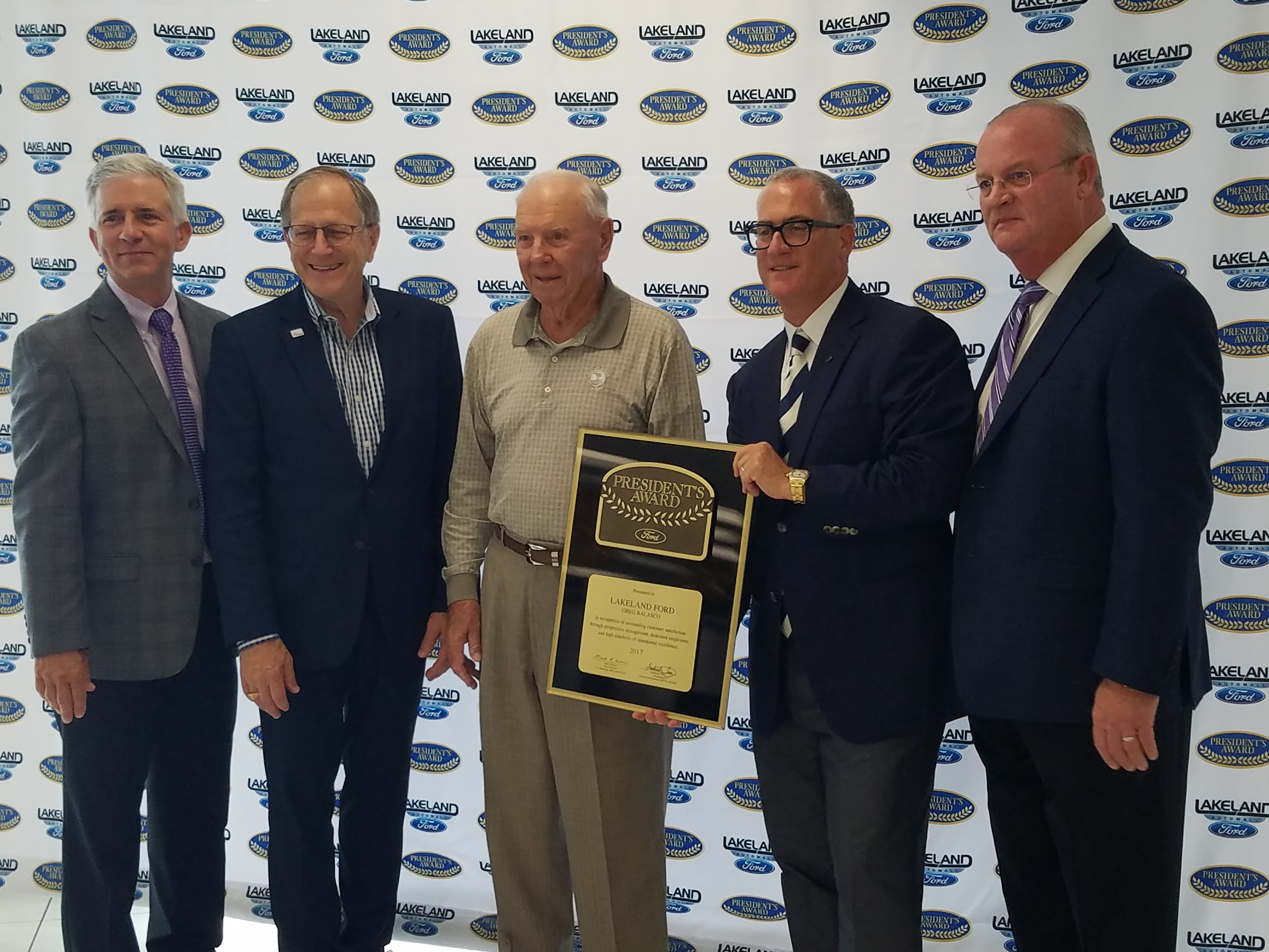 Lakeland Ford Presidents Award presentation