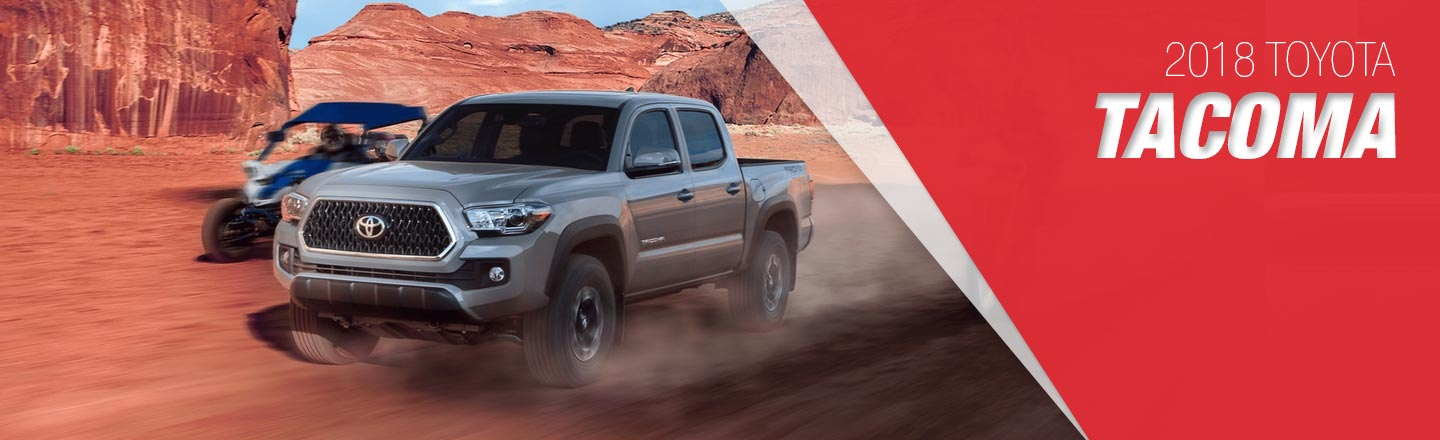 2018 gray Exterior Tacoma On Road at Toyota of Portland