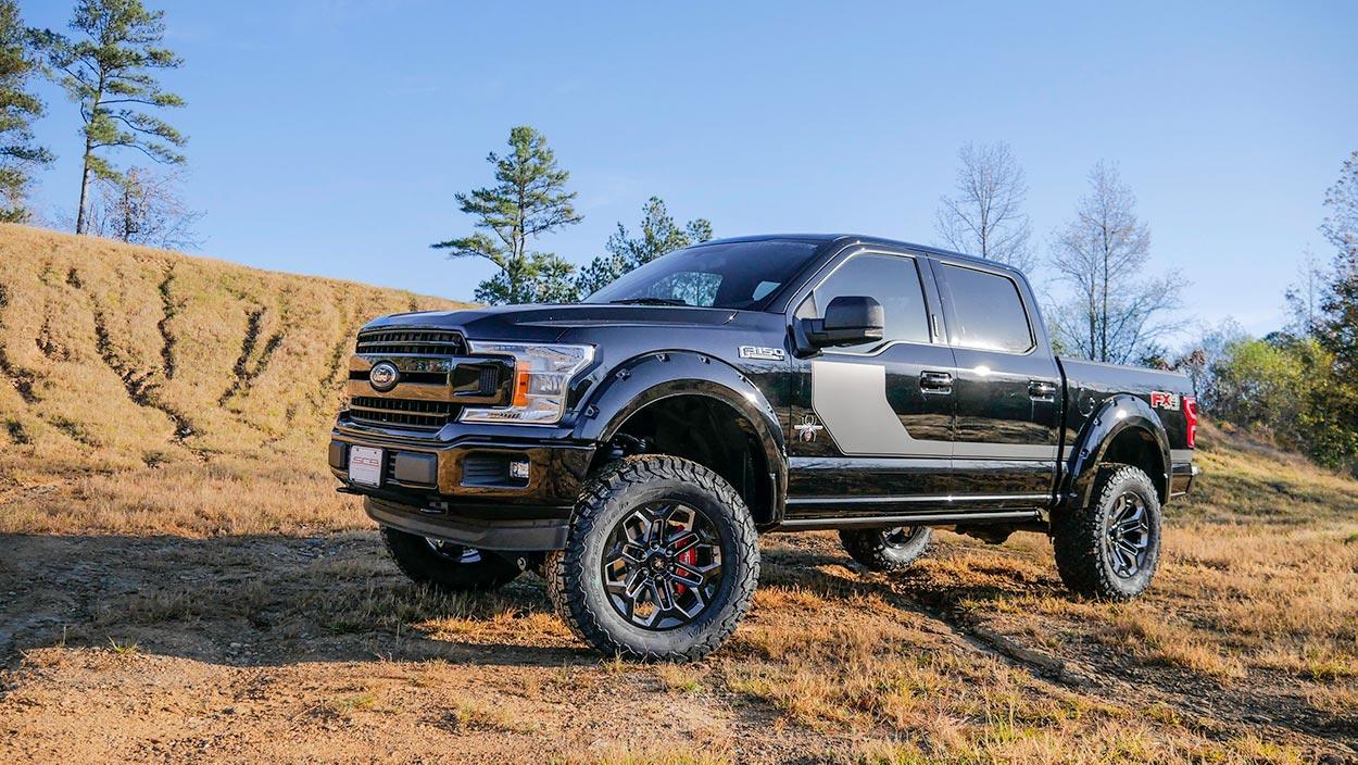 Ford F  Black Widow Lifted Truck