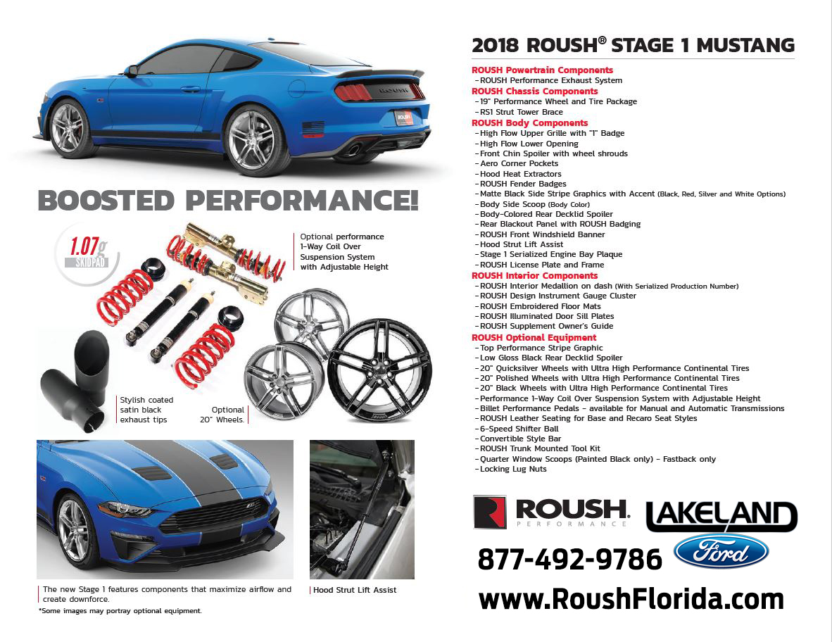 2018 ROUSH® STAGE 1 MUSTANG Performance Details
