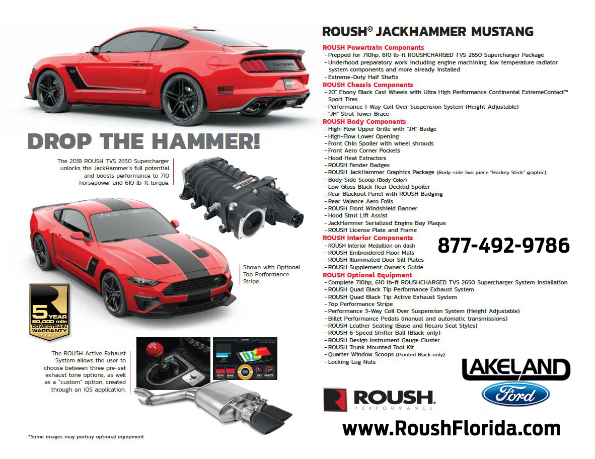 2018 roush jackhammer mustang roush performance