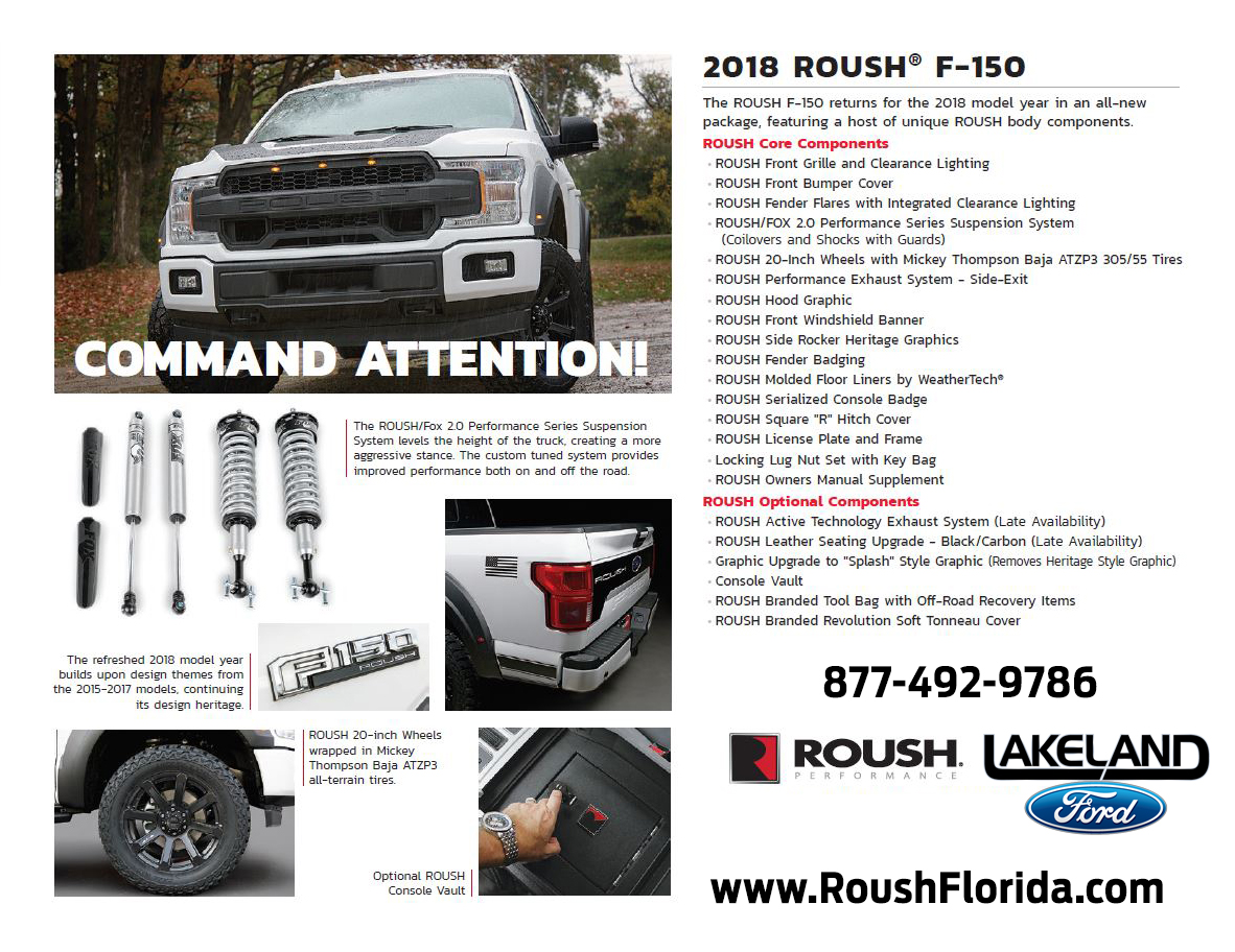 2018 ROUSH® F-150 Performance Specs