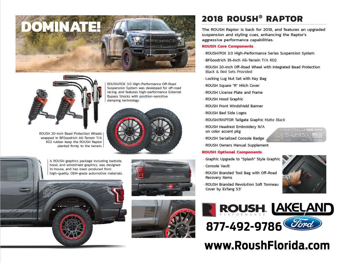 2018 ROUSH® RAPTOR