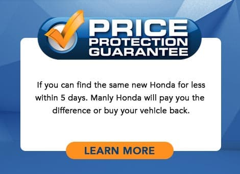 Manly Honda Price Protection Guarantee