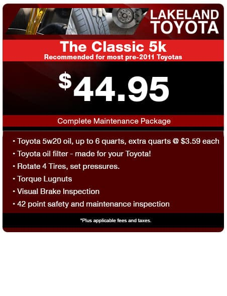 Printable Toyota Oil Change Coupons >> Toyota Service Coupons Parts Specials Lakeland Toyota