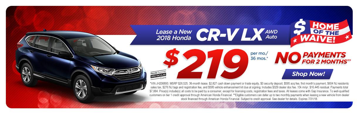 Honda dealer marlton nj burns honda 2018 honda cr v lx awd auto lease special at burns honda fandeluxe Choice Image