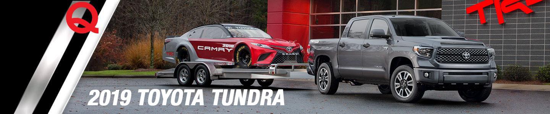 2018 Toyota Tundra grey gray pulling racecar TRD Pro